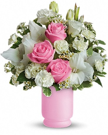 Teleflora's Pink and White Delight Bouquet