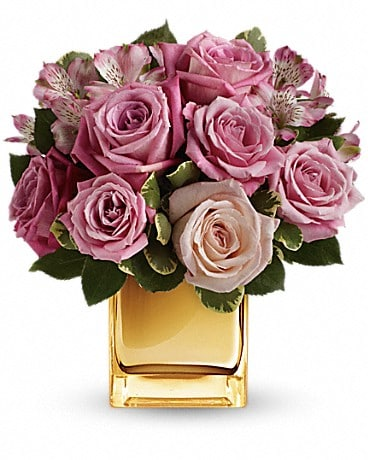 A Radiant Romance by Teleflora Flower Arrangement