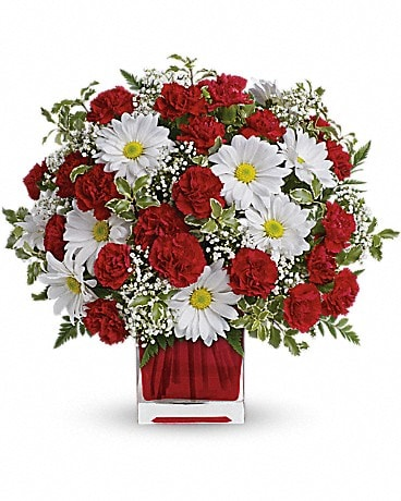Red And White Delight by Teleflora Bouquet