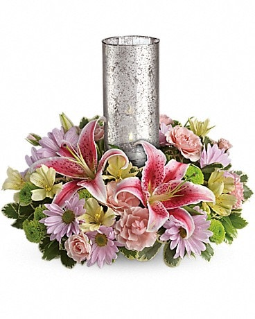 Just Delightful Centerpiece by Teleflora Bouquet