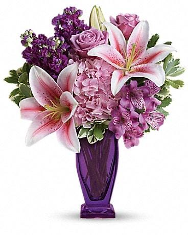 Teleflora's Blushing Violet Bouquet Bouquet