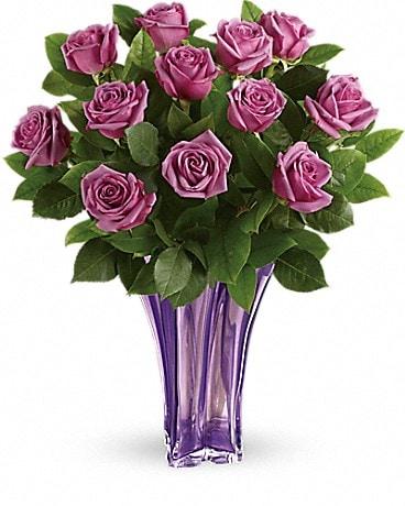 Anniversary flowers delivery colorado springs co colorado springs telefloras lavender splendor bouquet mightylinksfo