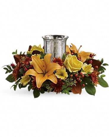 Glowing Gathering Centerpiece by Teleflora Specialty Arrangement