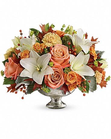 Teleflora's Harvest Shimmer Centerpiece Bouquet