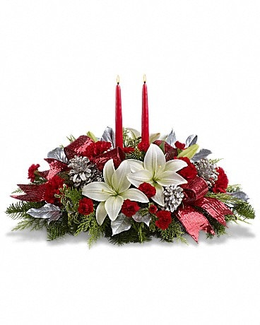 Lights Of Christmas Centerpiece Specialty Arrangement