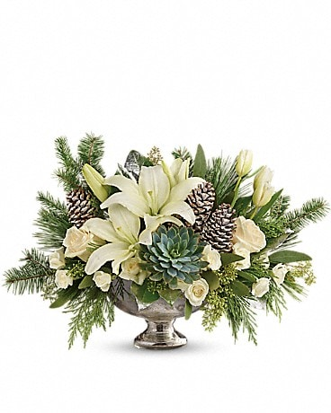 Teleflora's Winter Wilds Centerpiece Flower Arrangement
