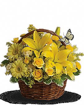 Basket Full of Wishes Basket Arrangement