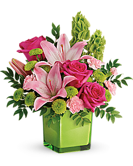 Teleflora's In Love With Lime Bouquet - Bouquet