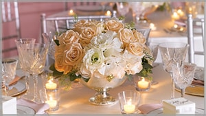 Spring wedding flower arrangement