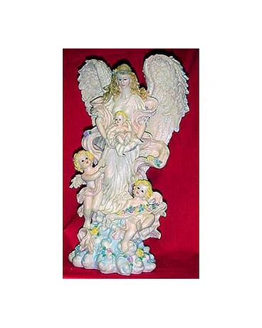 Angel with cherub angels