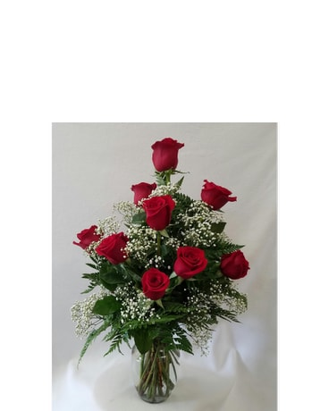 Dozen Red Roses with Filler