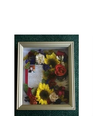 8x10 Memorial Shadowbox  sc 1 st  Forget Me Not Florist u0026 Flower Preservation & 8x10 Memorial Shadowbox in Middletown DE - Forget Me Not Florist ... Aboutintivar.Com