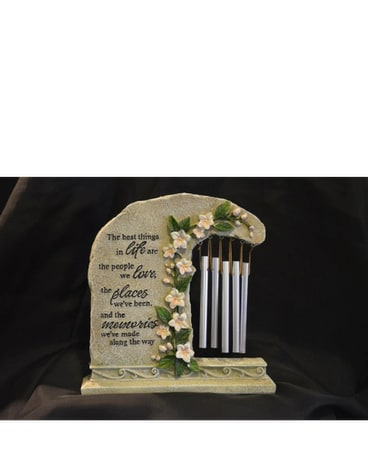 Table Memory Plaque with Chimes