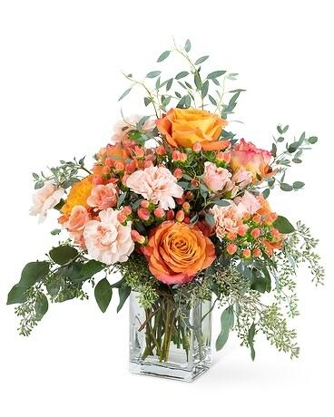 Coral Symphony Flower Arrangement