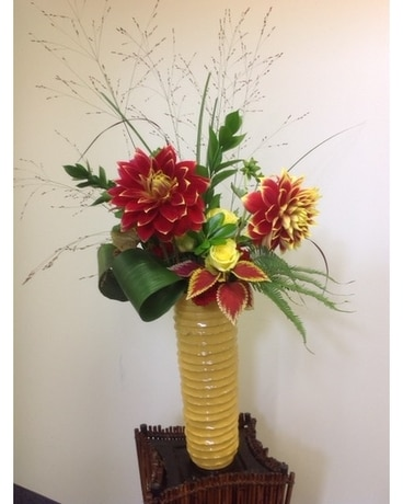 Tall and Exotic Flower Arrangement