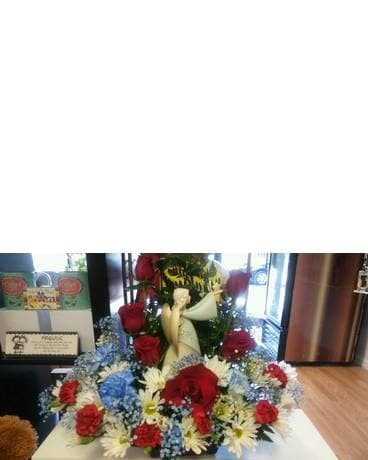 Sympathy bouquets delivery tampa fl the gift factory angel arrangement negle Images