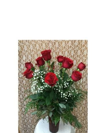 Dozen Premium Roses Arranged Flower Arrangement