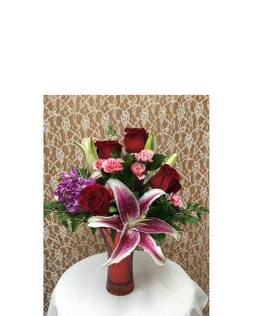 Sweet Romance Bouquet Flower Arrangement