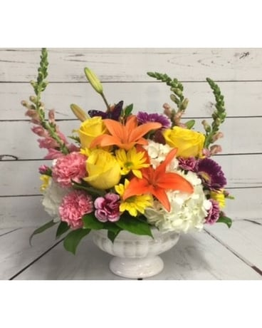 Colorful Table Flower Arrangement