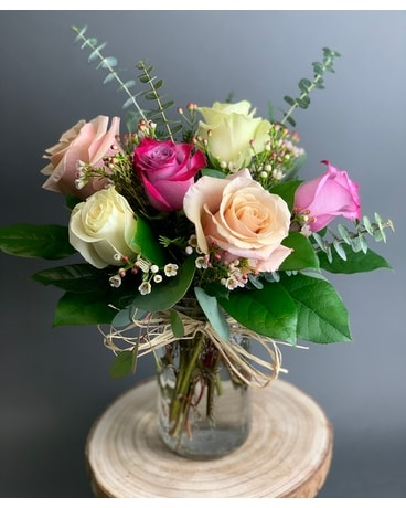 Rustic Half Dozen Flower Arrangement