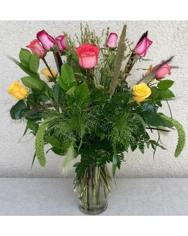 Fall in Love Dozen Flower Arrangement