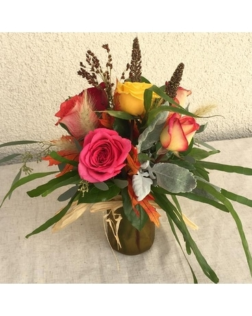 Rustic Fall Half Dozen Flower Arrangement
