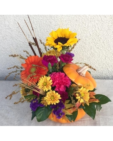 Pumpkin Spice Flower Arrangement
