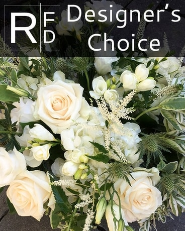 RFD Designer's Choice in White and Ivory Flower Arrangement