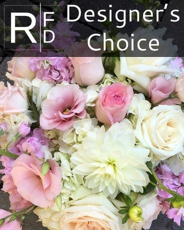 RFD Designer's Choice in Pinks and Whites Flower Arrangement