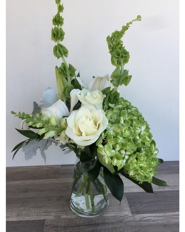 Sweet Greens Flower Arrangement