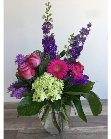 Jewel Tones Flower Arrangement