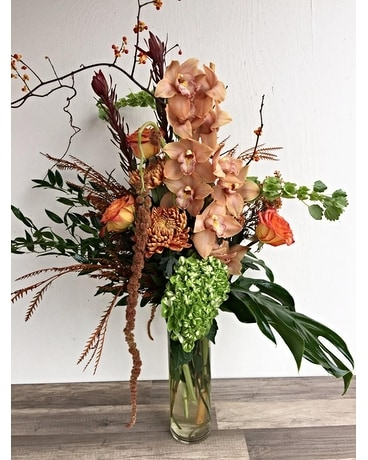 Pumpkin Spice Latte Flower Arrangement