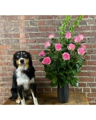 Sweet Pink Classic Roses Flower Arrangement