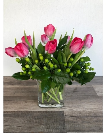 Darling Springtime Tulips Flower Arrangement