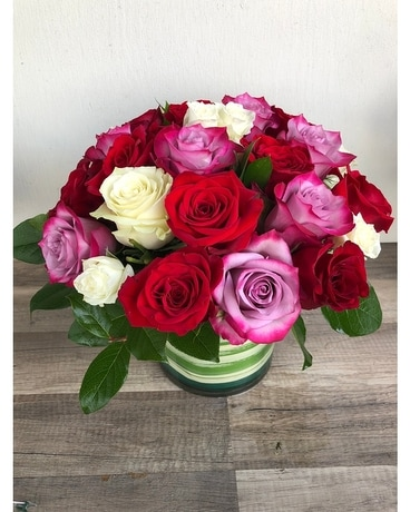 Luxe Rose Garden Flower Arrangement