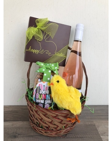 Food wine gifts delivery greenville nc jefferson florist inc grown up easter basket negle Image collections