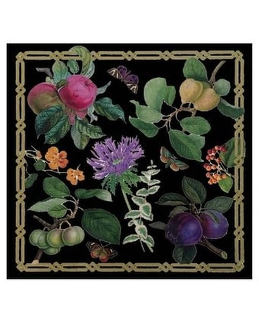 Découpage Garden Lacquer Placemat in Black - 1 Eac Gifts