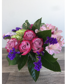Vivid Day Roses Flower Arrangement