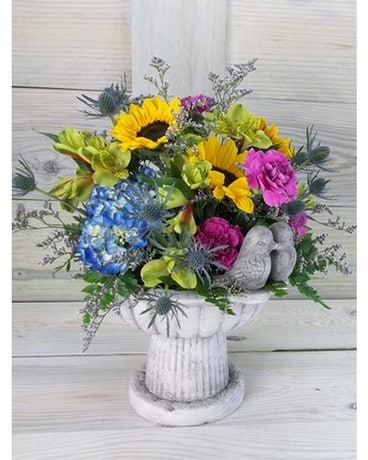 Birds of a Feather Flower Arrangement