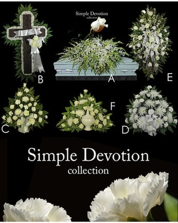 Simple Devotion Collection Funeral Arrangement