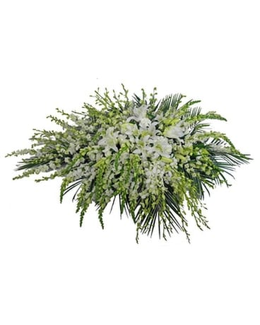 Simple Devotion Deluxe Casket Spray Funeral Arrangement