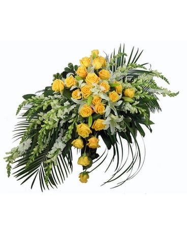 Cross Reflections Casket Spray Funeral Arrangement