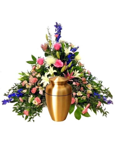 Pastel Pyramid Tribute Funeral Arrangement