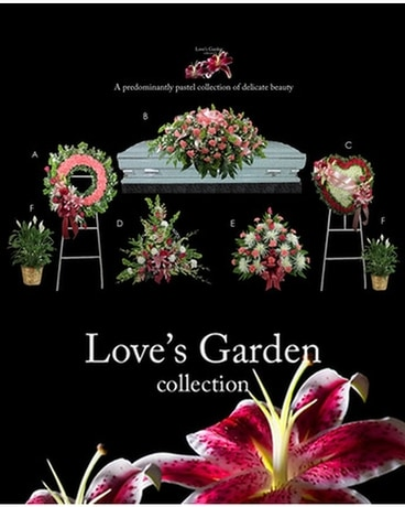 Love's Garden Collection Funeral Arrangement