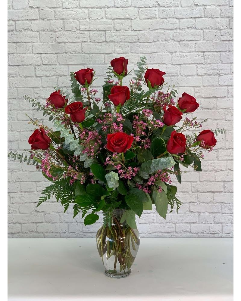 One Dozen Premium Red Roses