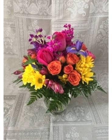 Midwood Flower Shop Splash Of Color Flower Arrangement