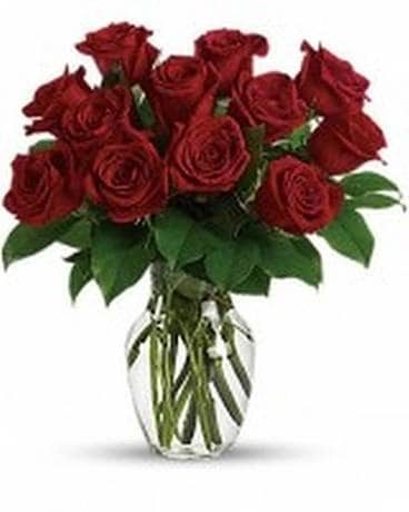 Midwood Flower Shop's 12 premium Red Rose Bouquet