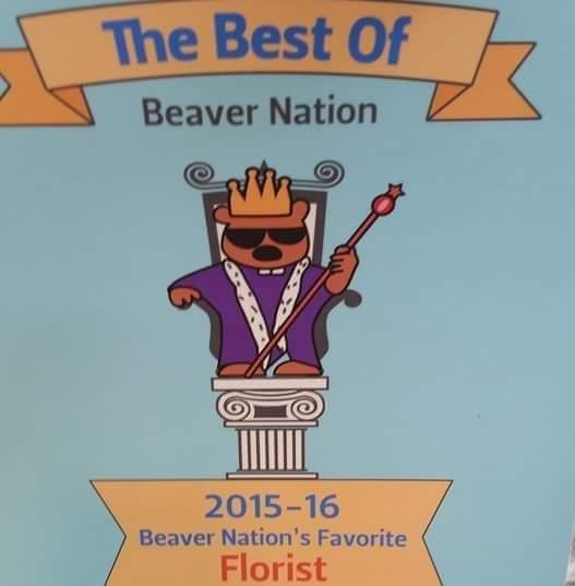 Beaver Nation Best Florist Award