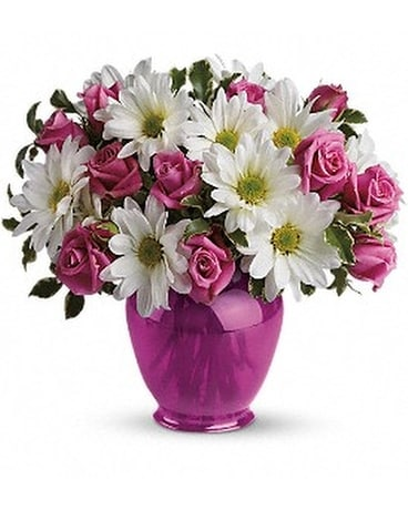 Teleflora's Pink Daisy Delight Flower Arrangement