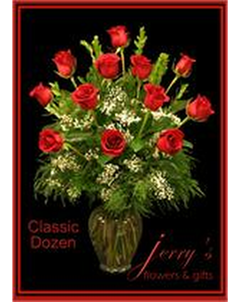 Classic Dozen Roses Flower Arrangement